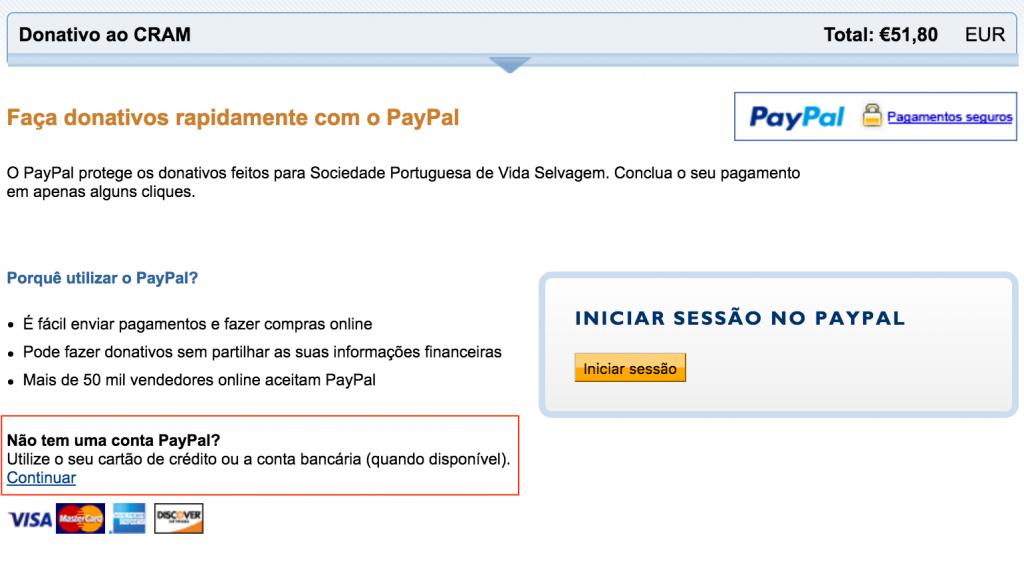 Para pagamentos por cartão de Crédito ou MBNET, siga a ligação continuar na secção escolha a opção Não tem uma conta PayPal? Assim, a sua transação será assegurada pelo Paypal de forma segura.
