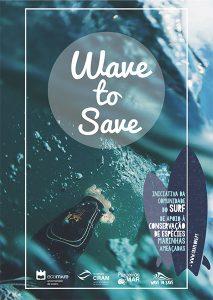 Poster Campanha CRAM Wave to Save - Fundo Parceiros pelo Mar