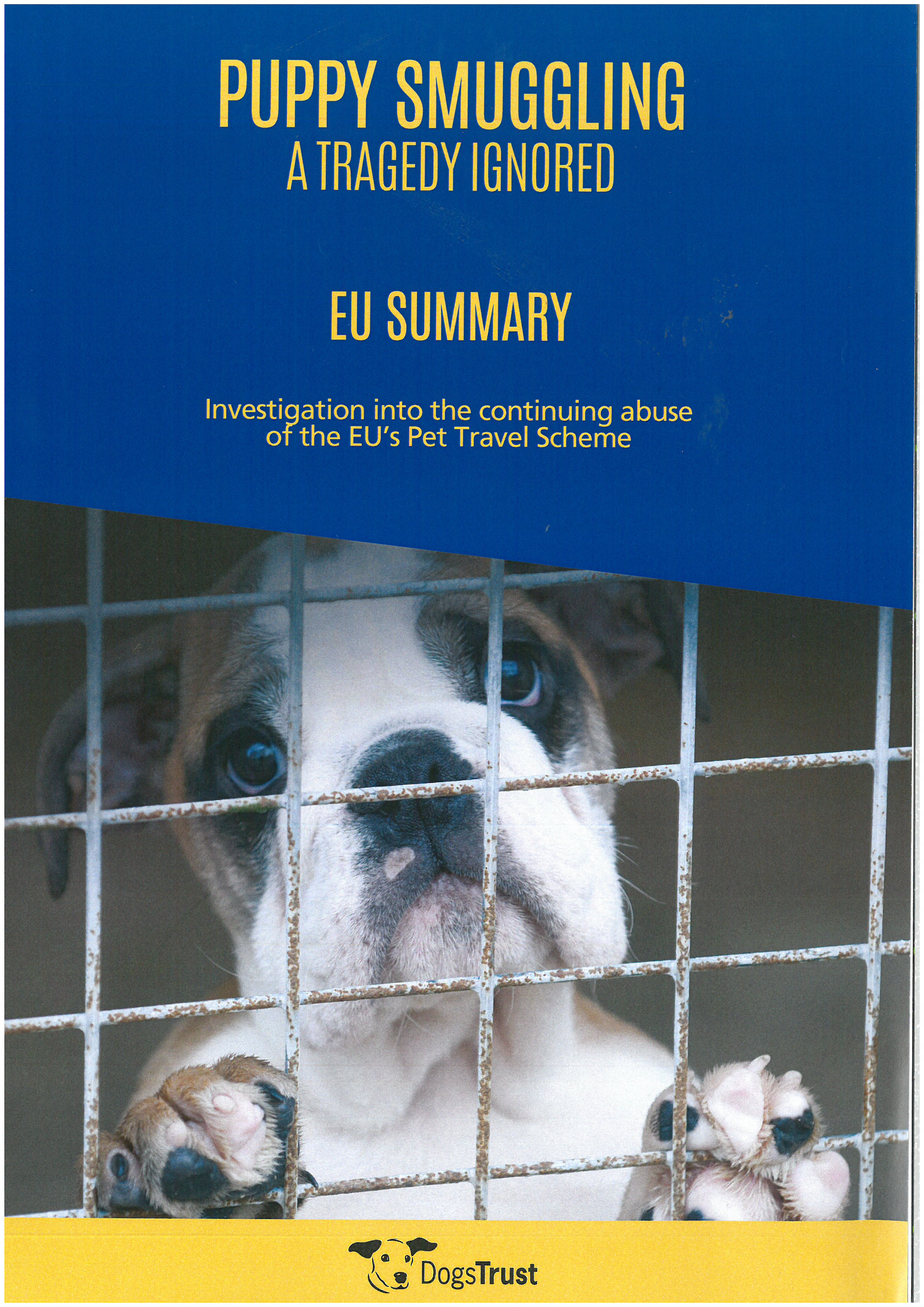 "EU Summary of ""Puppy Smuggling: A Tragedy Ignored"""