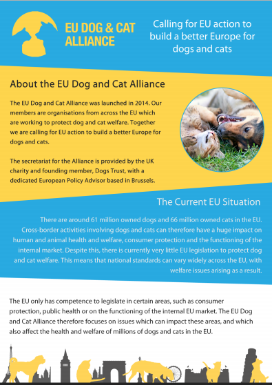 EU Dog and Cat Alliance briefing