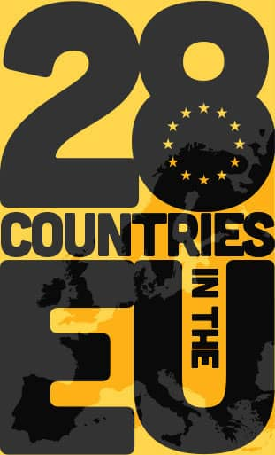 28 Countries in the EU