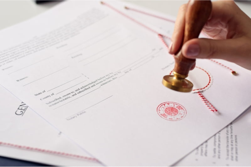 stamping a document