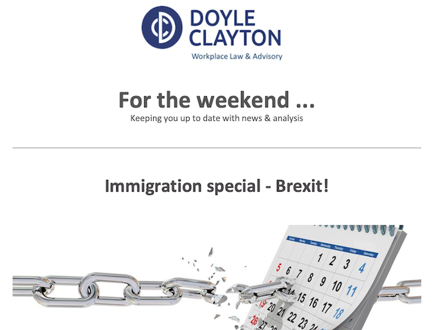 Brexit Special! For the latest in immigration from Doyle Clayton