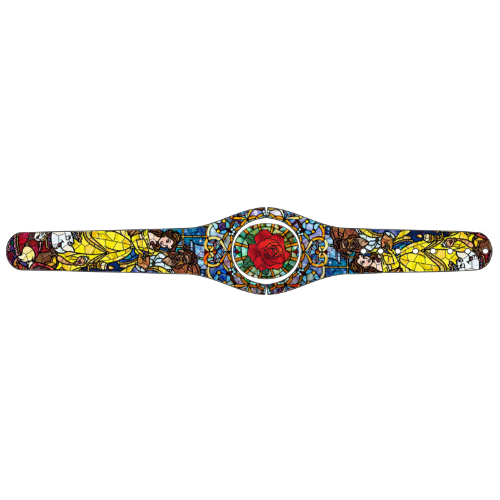 Beauty and the Beast in stained glass Magic Band Skin
