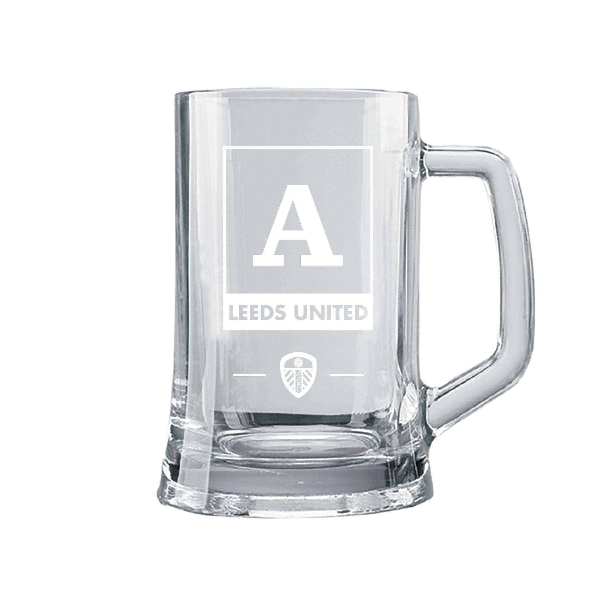 Leeds United FC Monogram Small Straight Sided Tankard