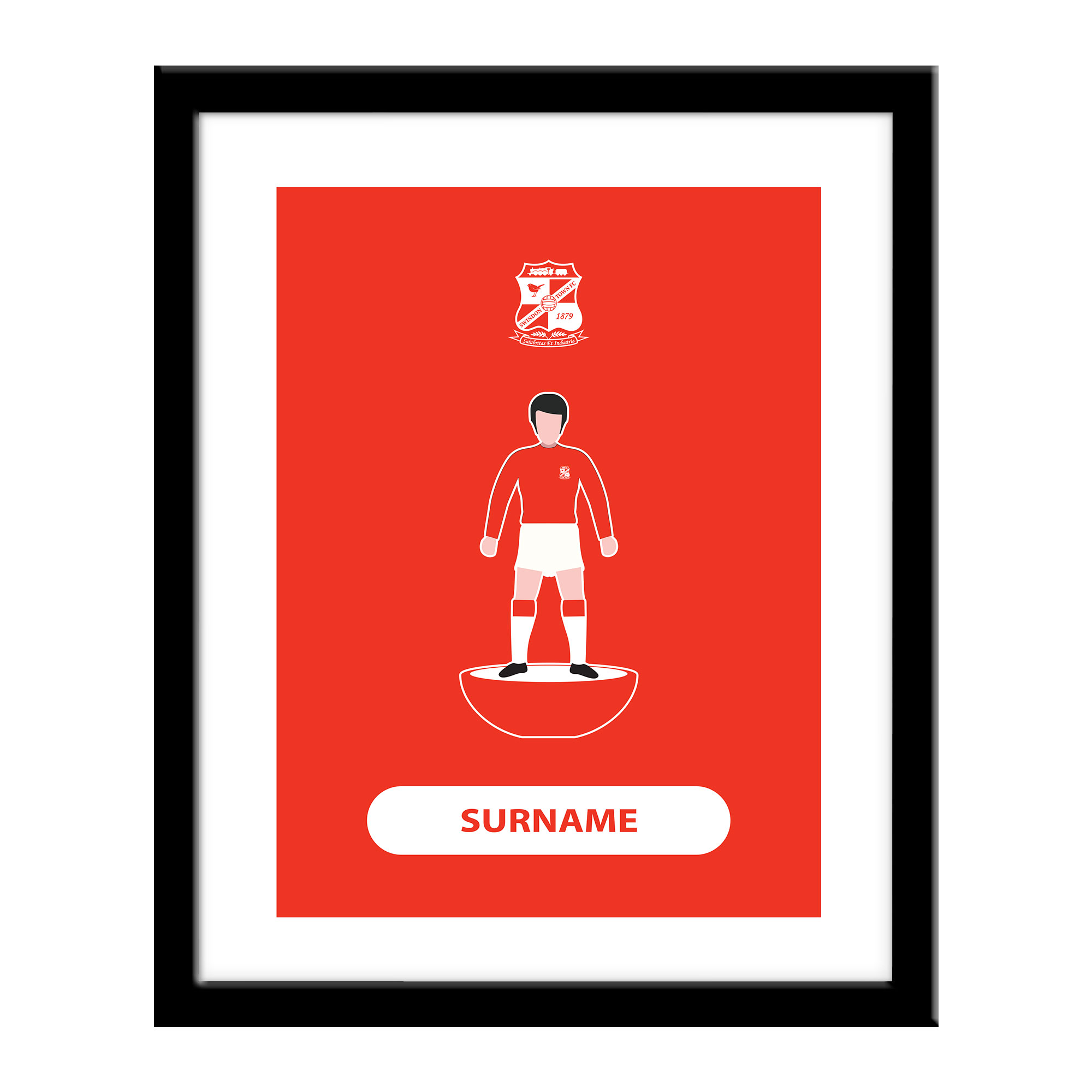 Swindon Town Player Figure Print