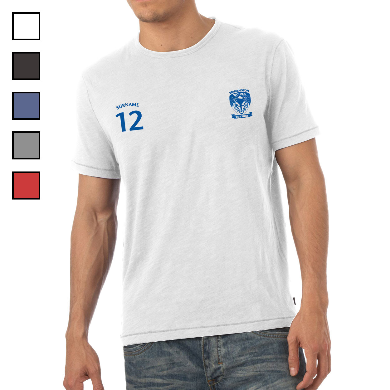 Warrington Wolves Mens Sports T-Shirt
