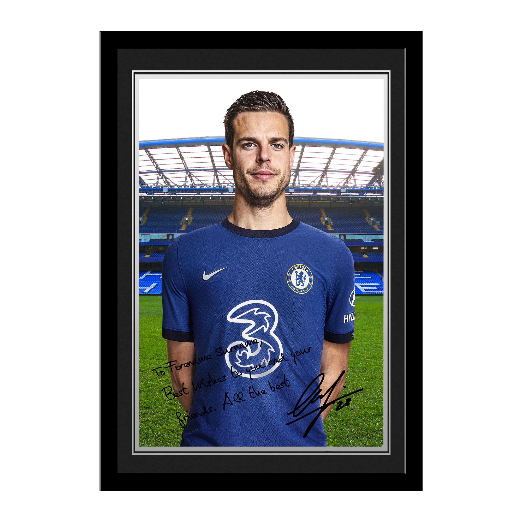 Chelsea FC Azpilicueta Autograph Photo Framed