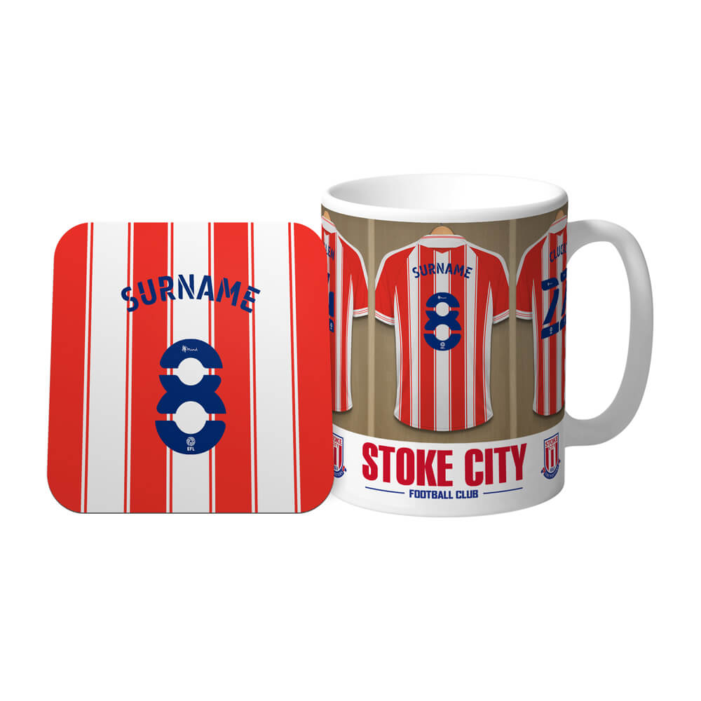 Stoke City FC Dressing Room Mug & Coaster Set