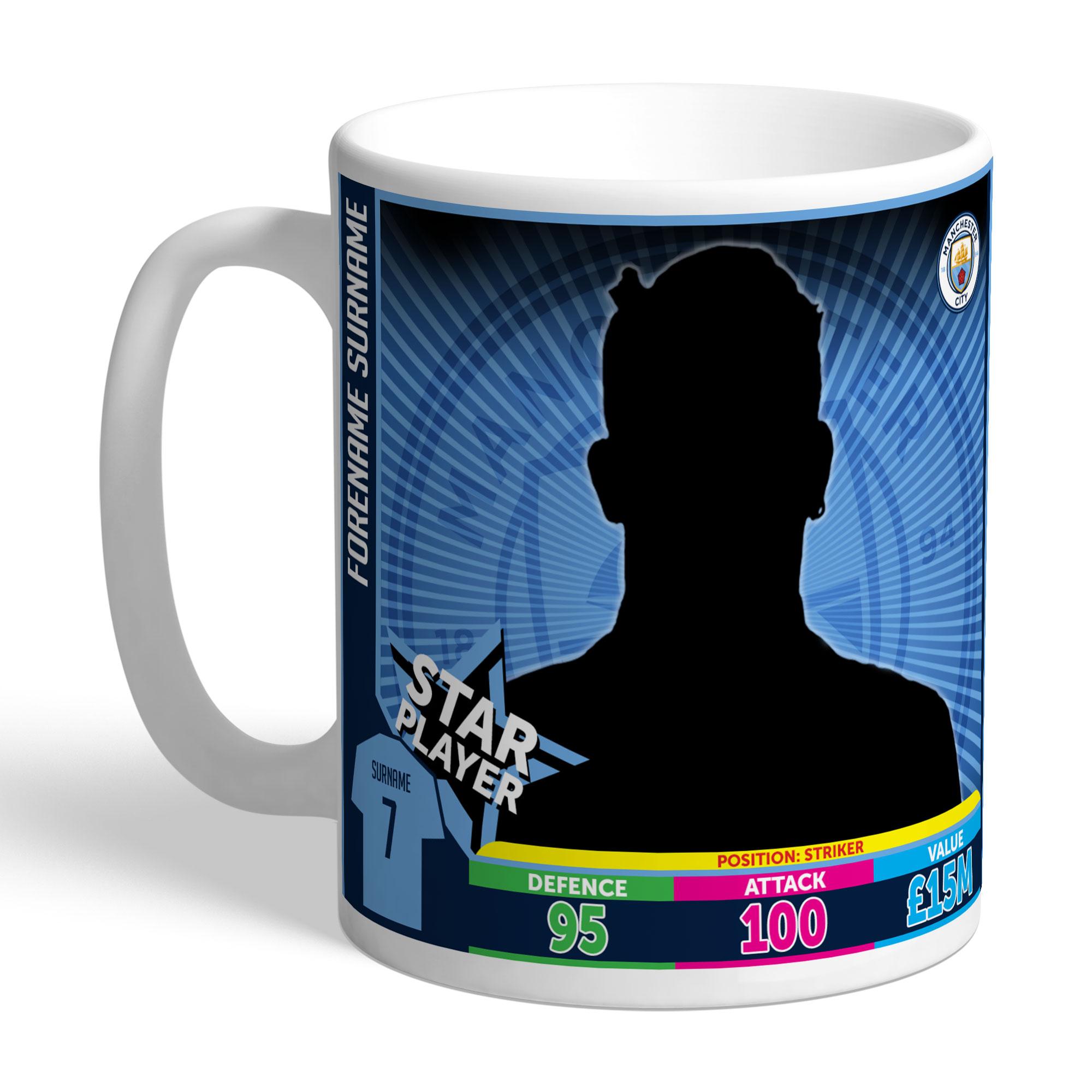 Manchester City FC Trading Card Mug