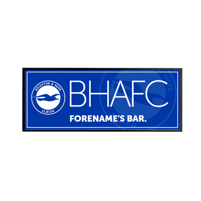 Brighton & Hove Albion FC Mono Crest Regular Bar Runner