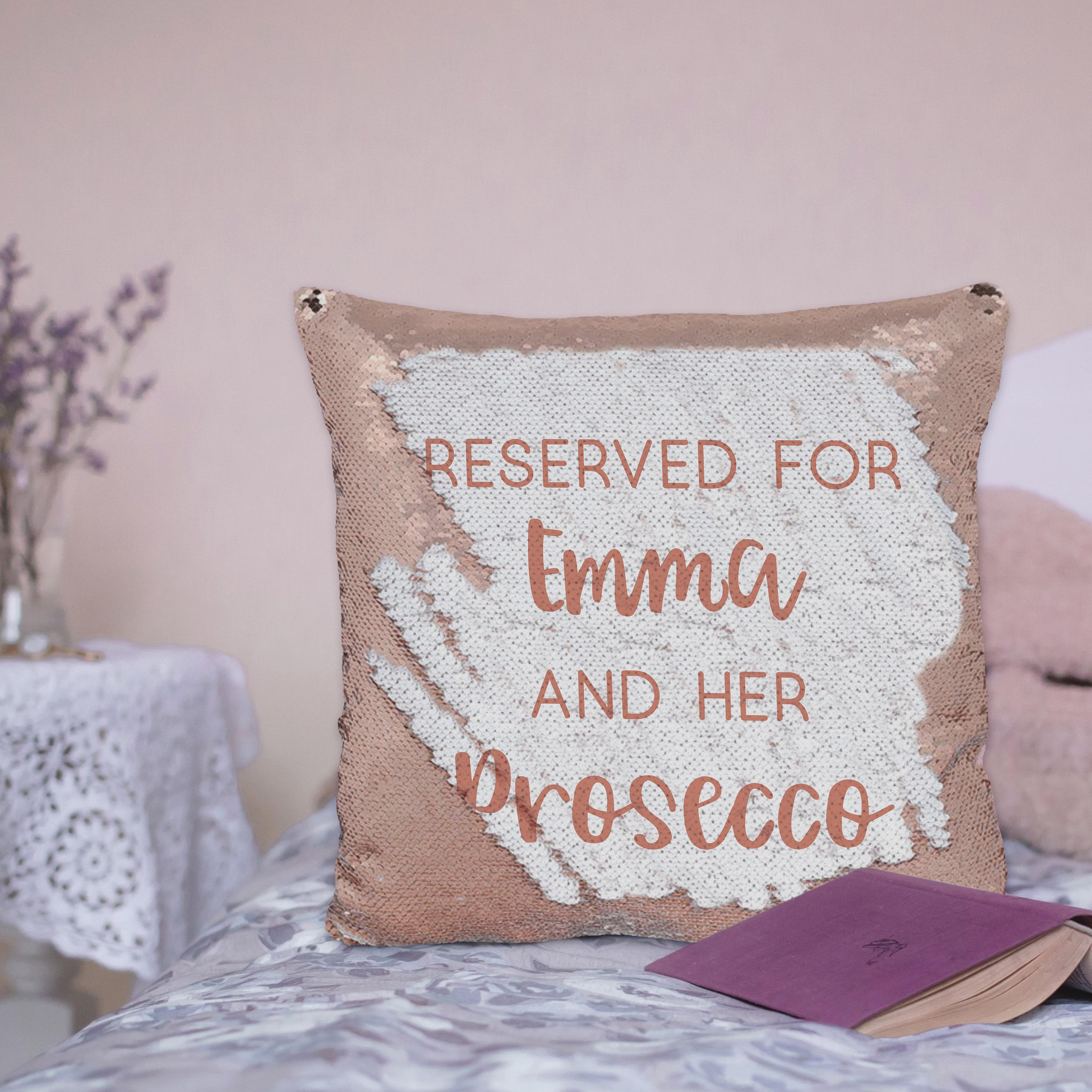 Rose Gold Secret Message Sequin Cushion