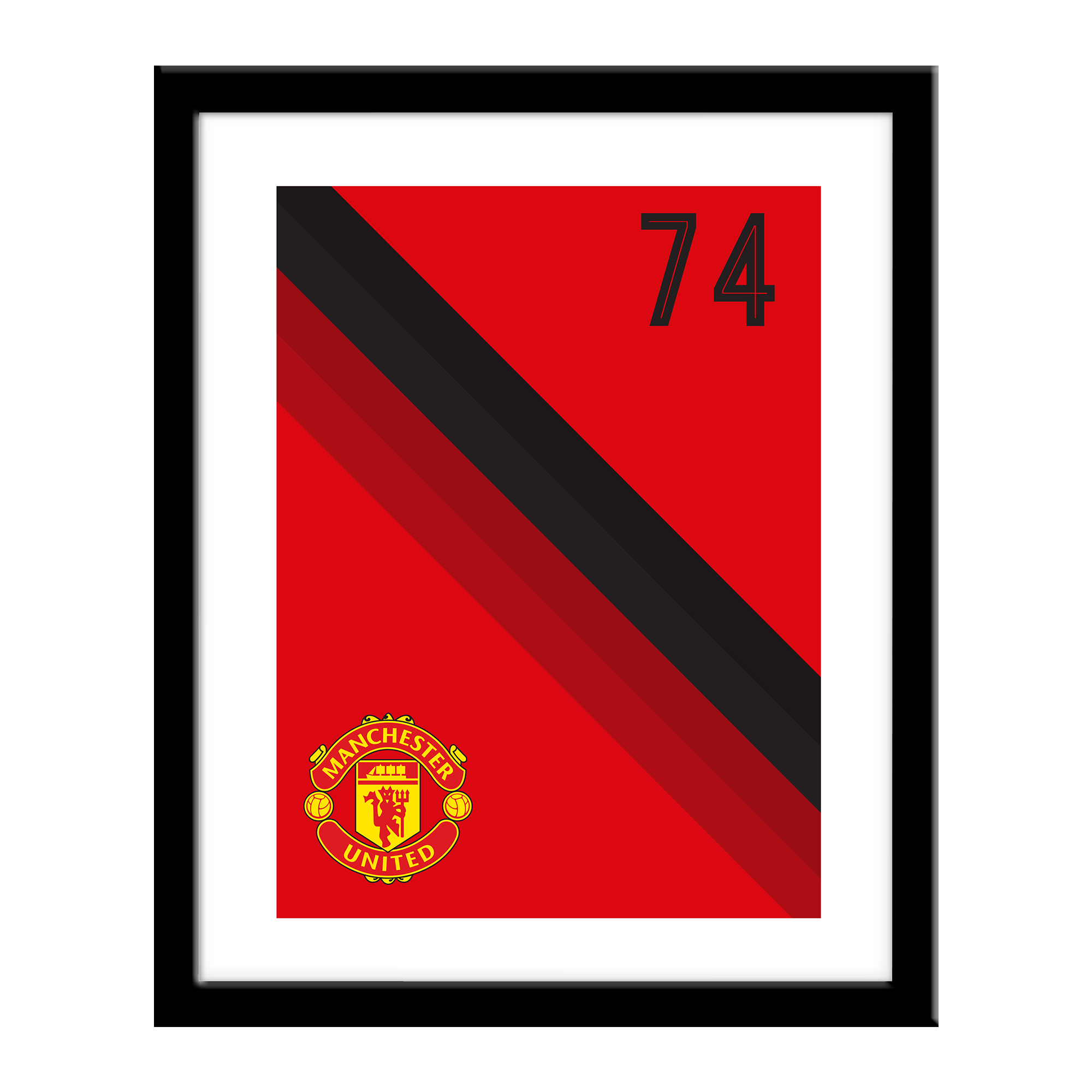 Manchester United FC Stripe Print