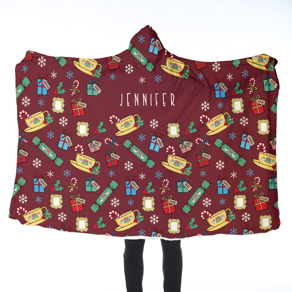 FRIENDS™ Adult Hooded Blanket - Christmas