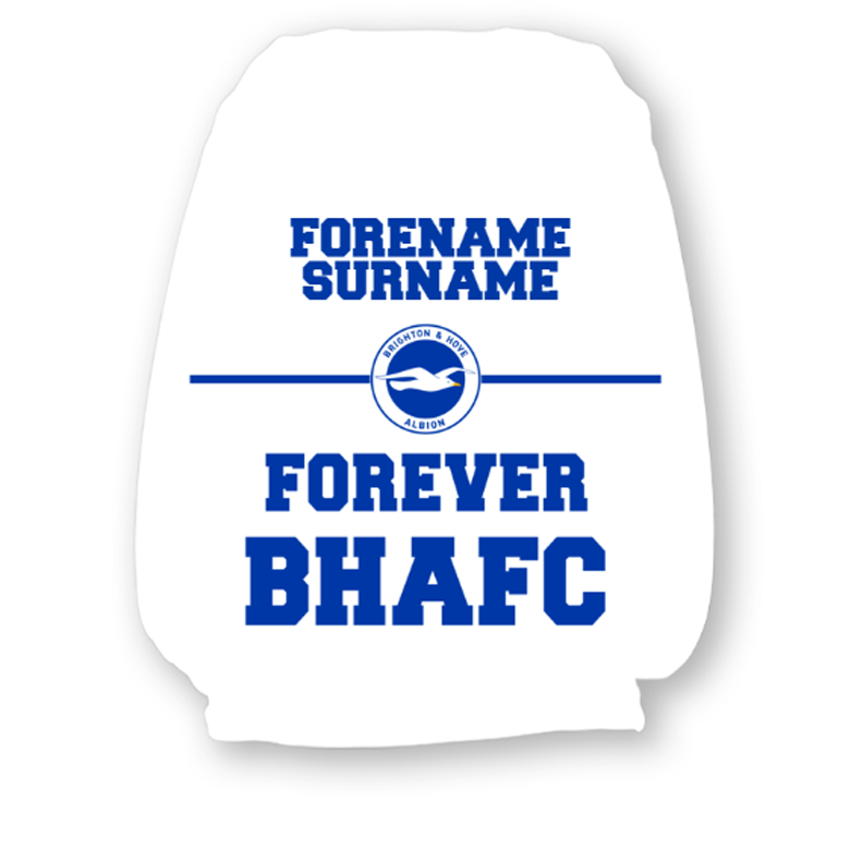 Brighton & Hove Albion FC Forever Headrest Cover