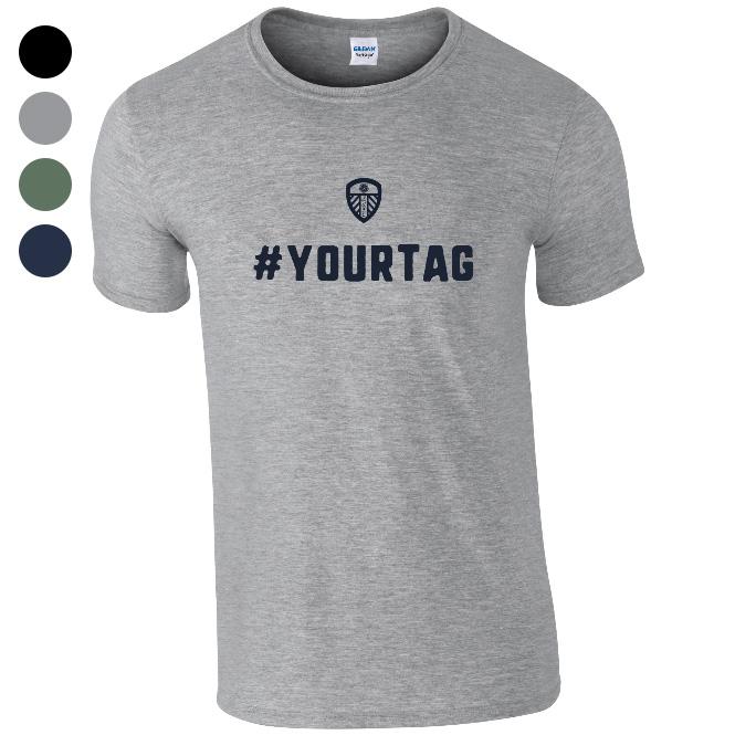 Leeds United FC Crest Hashtag T-Shirt