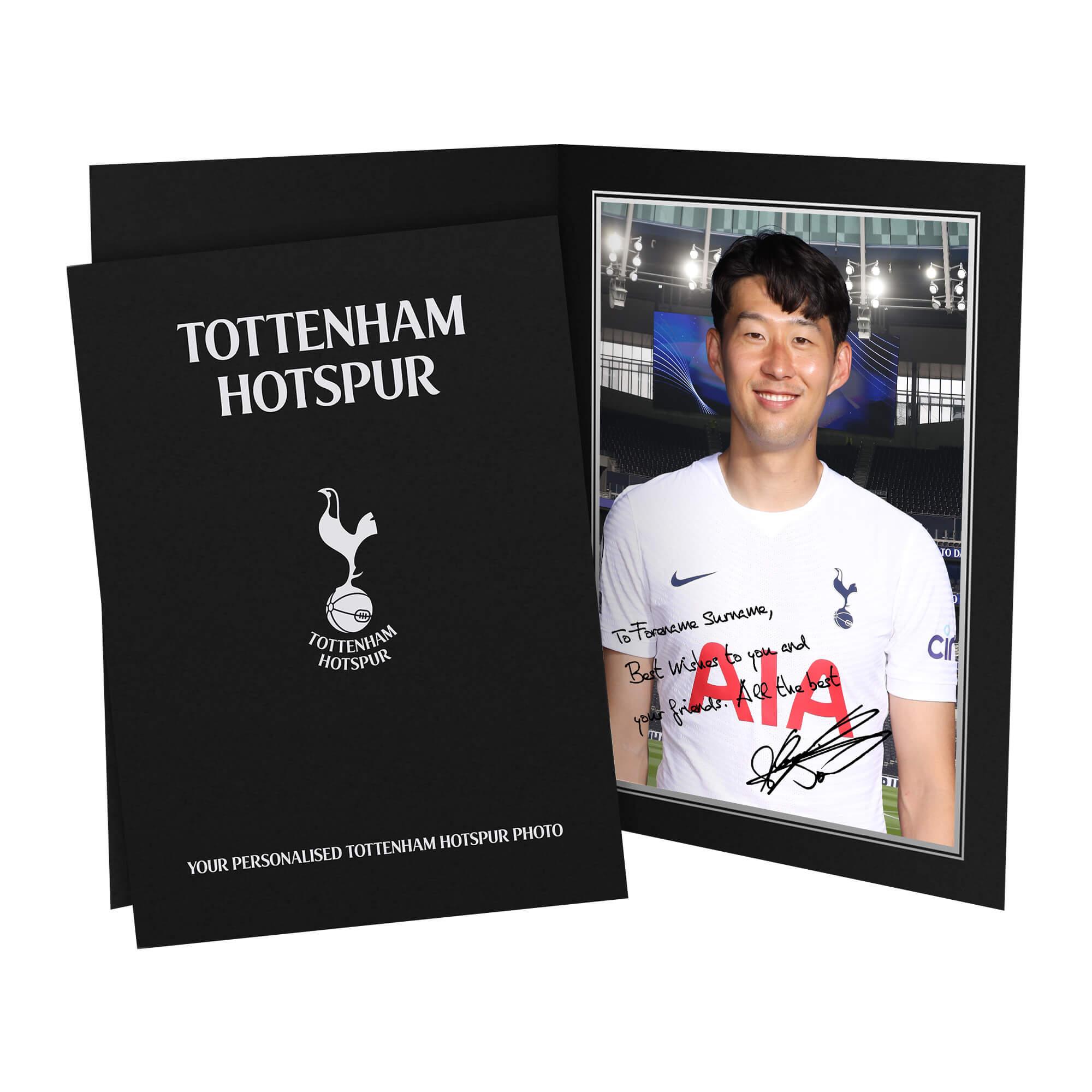 Tottenham Hotspur Son Autograph Photo Folder