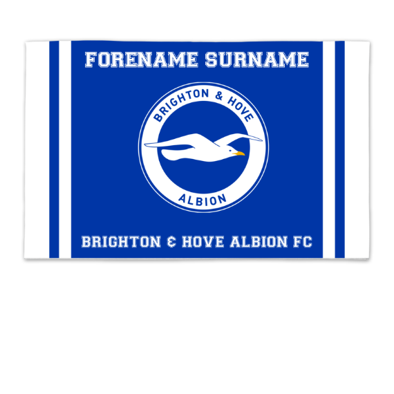 Brighton & Hove Albion FC Crest 8ft x 5ft Banner