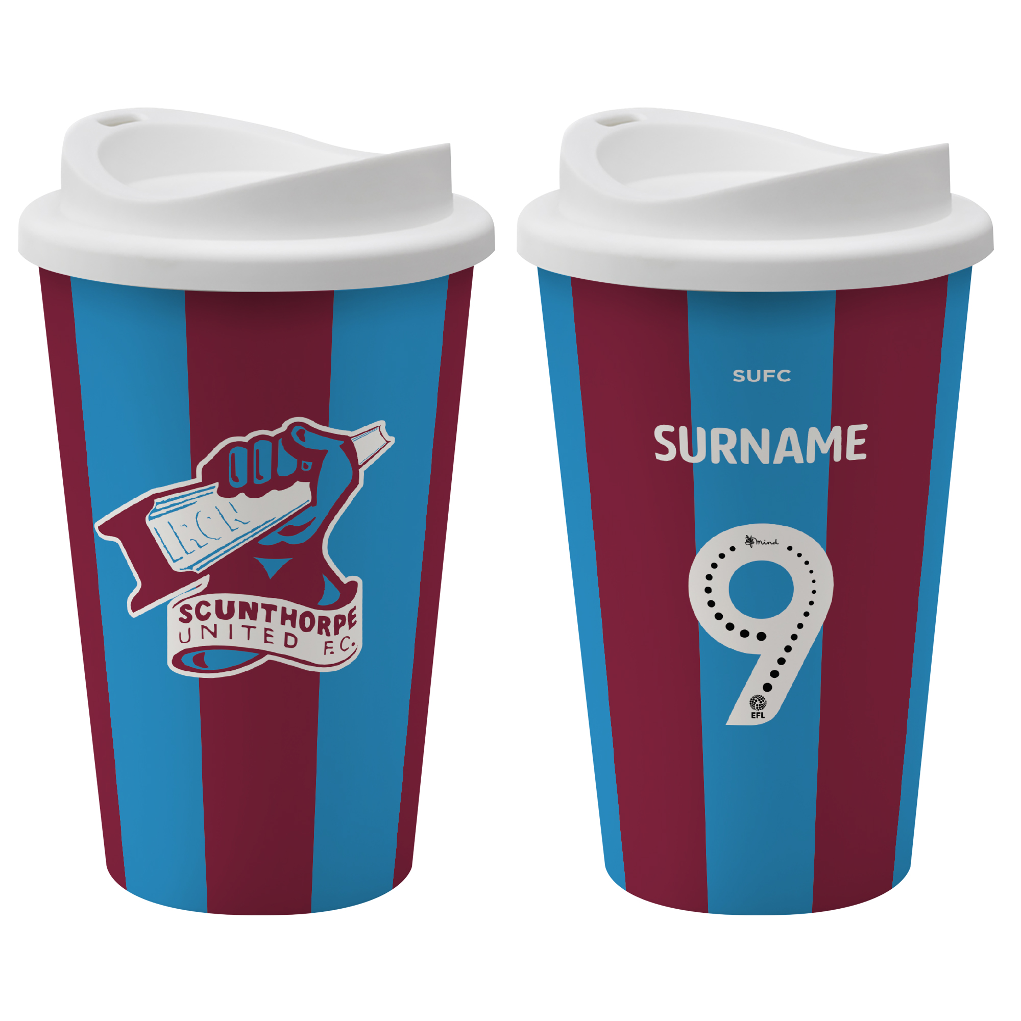 Scunthorpe United FC Back of Shirt Reusable Cup