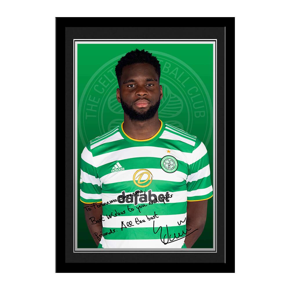 Celtic FC Edouard Autograph Photo Framed