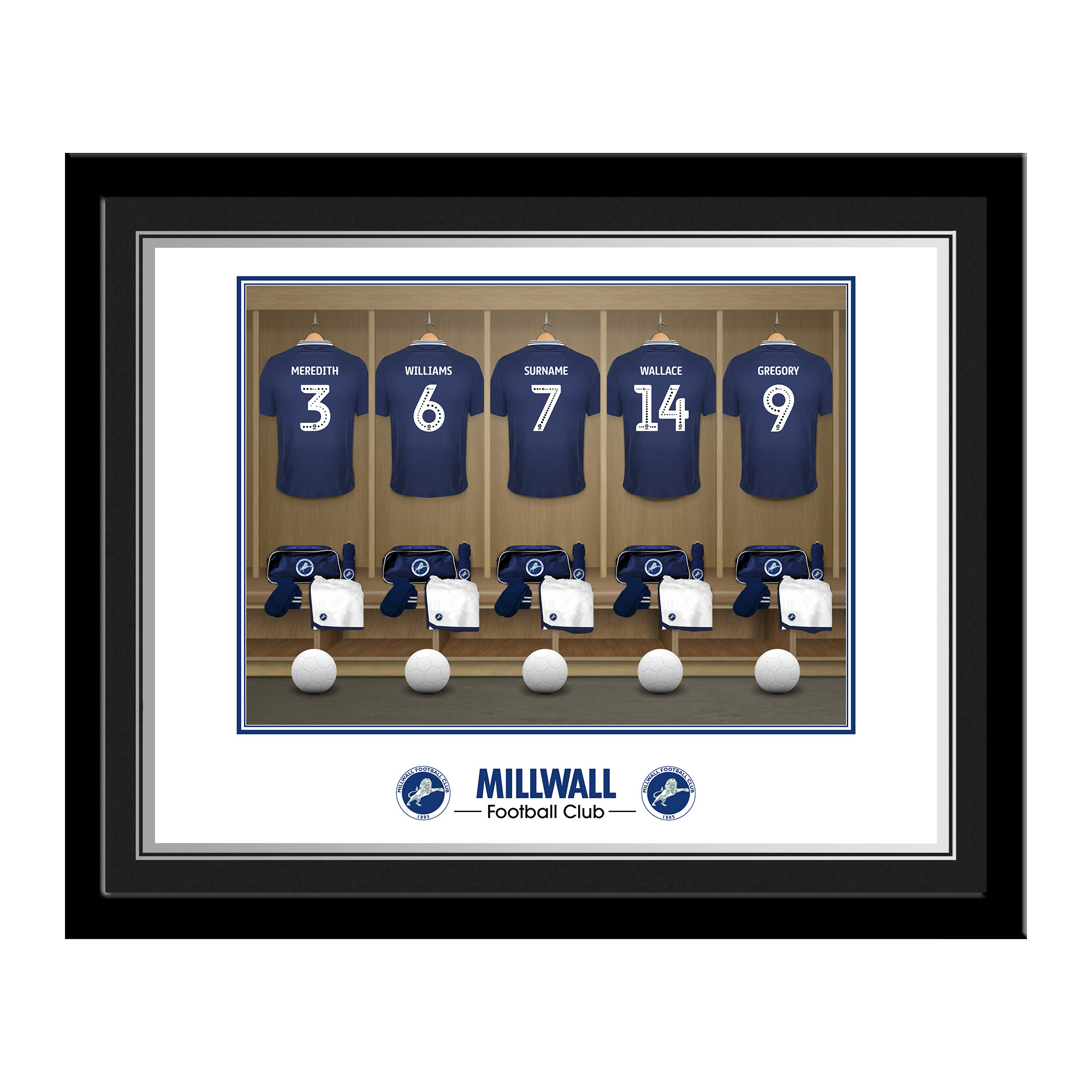 Millwall FC Dressing Room Photo Framed