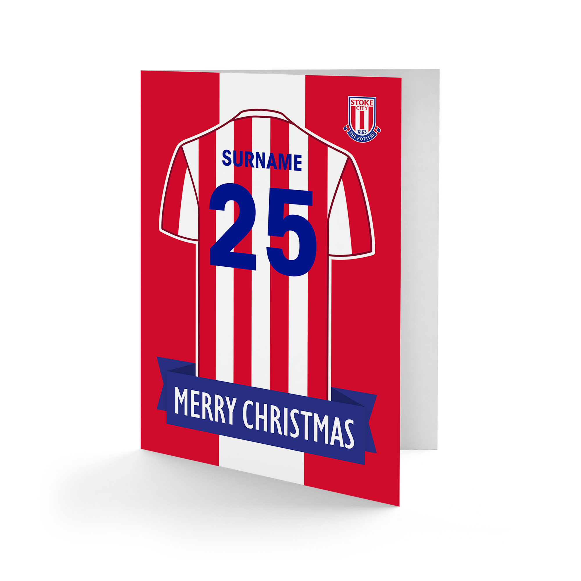 Stoke City FC Shirt Christmas Card