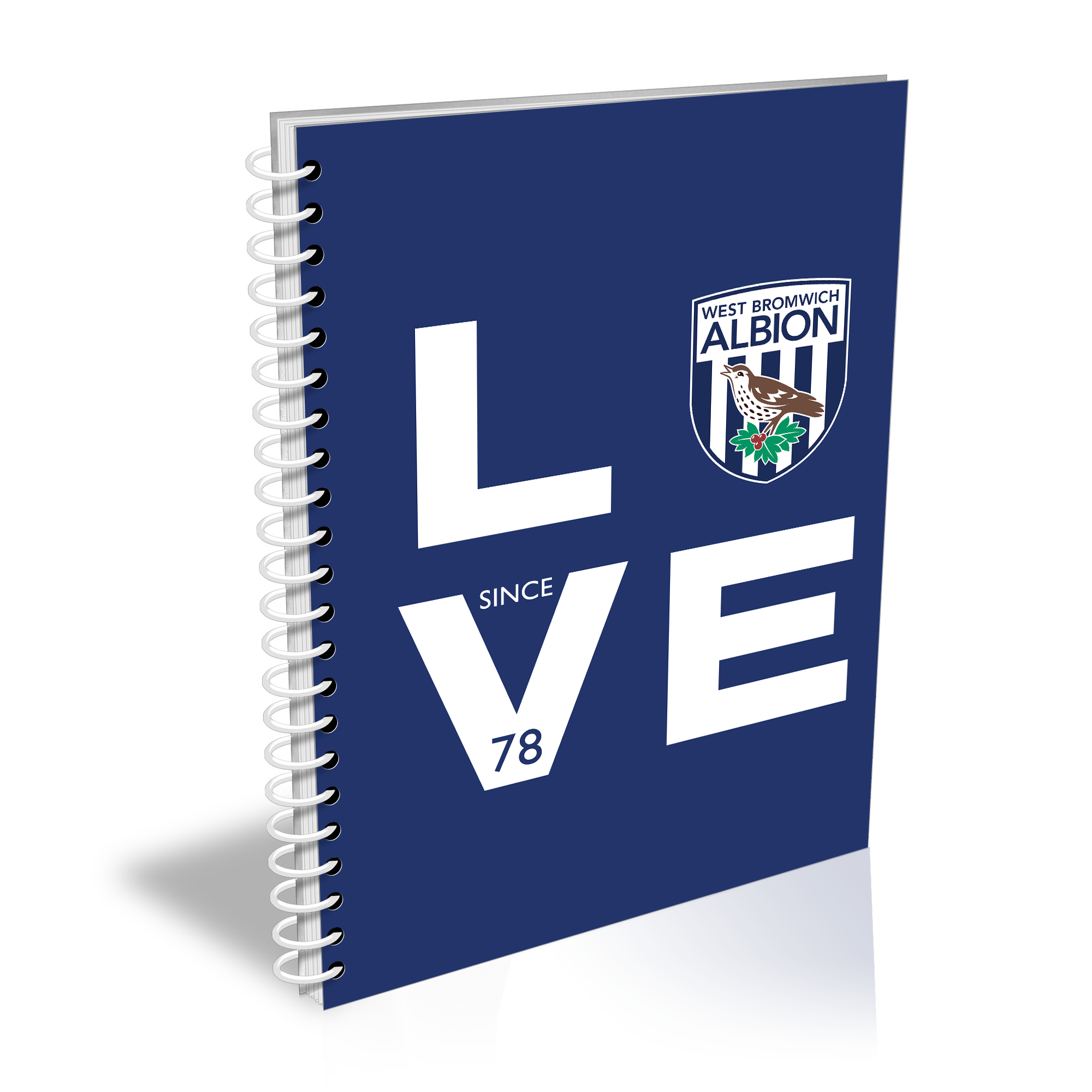 West Bromwich Albion FC Love Notebook