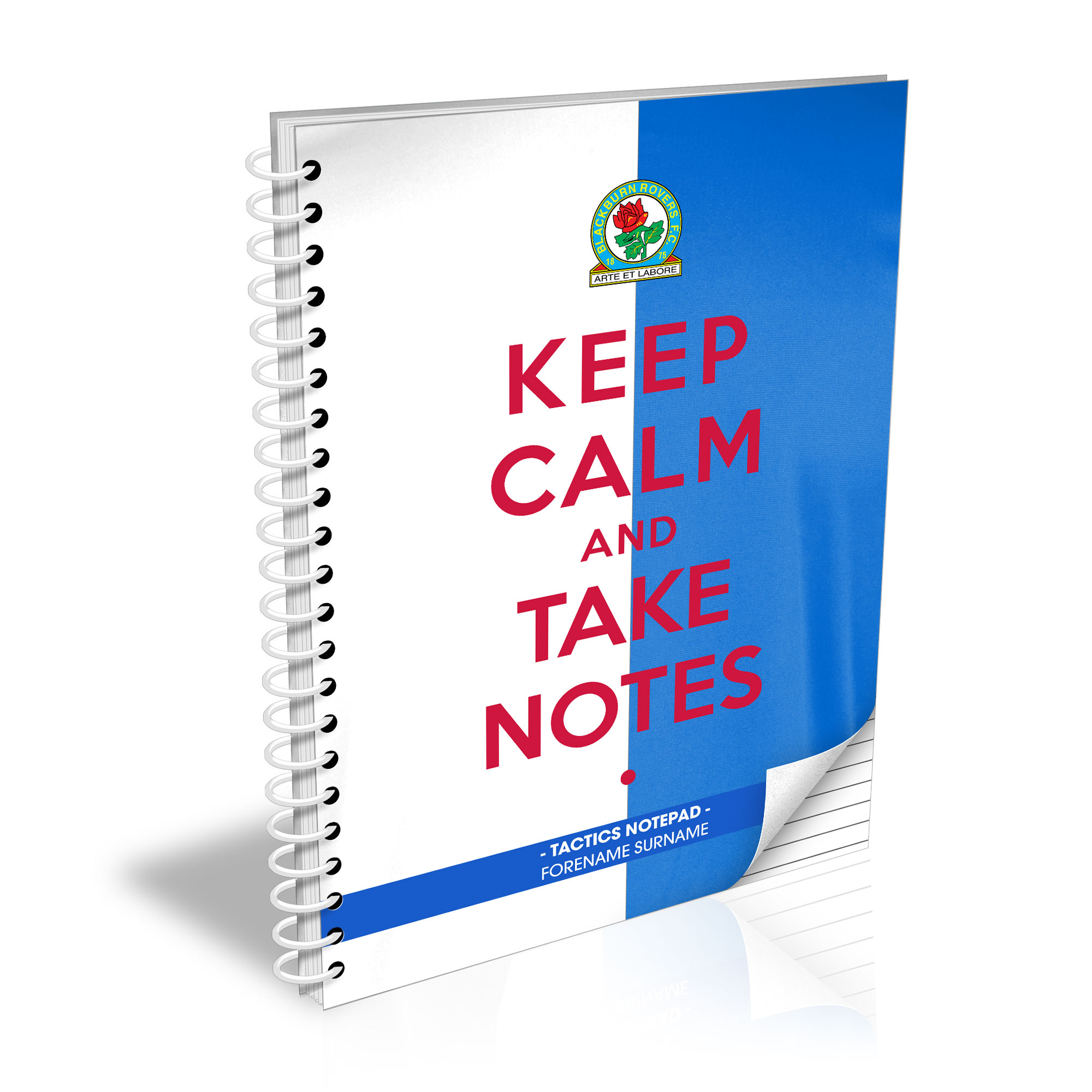 Blackburn Rovers FC Keep Calm Notebook