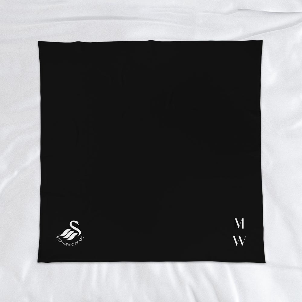Swansea City AFC Initials Fleece Blanket