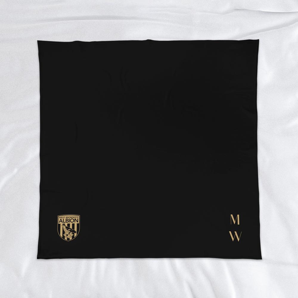 West Bromwich Albion FC Initials Fleece Blanket