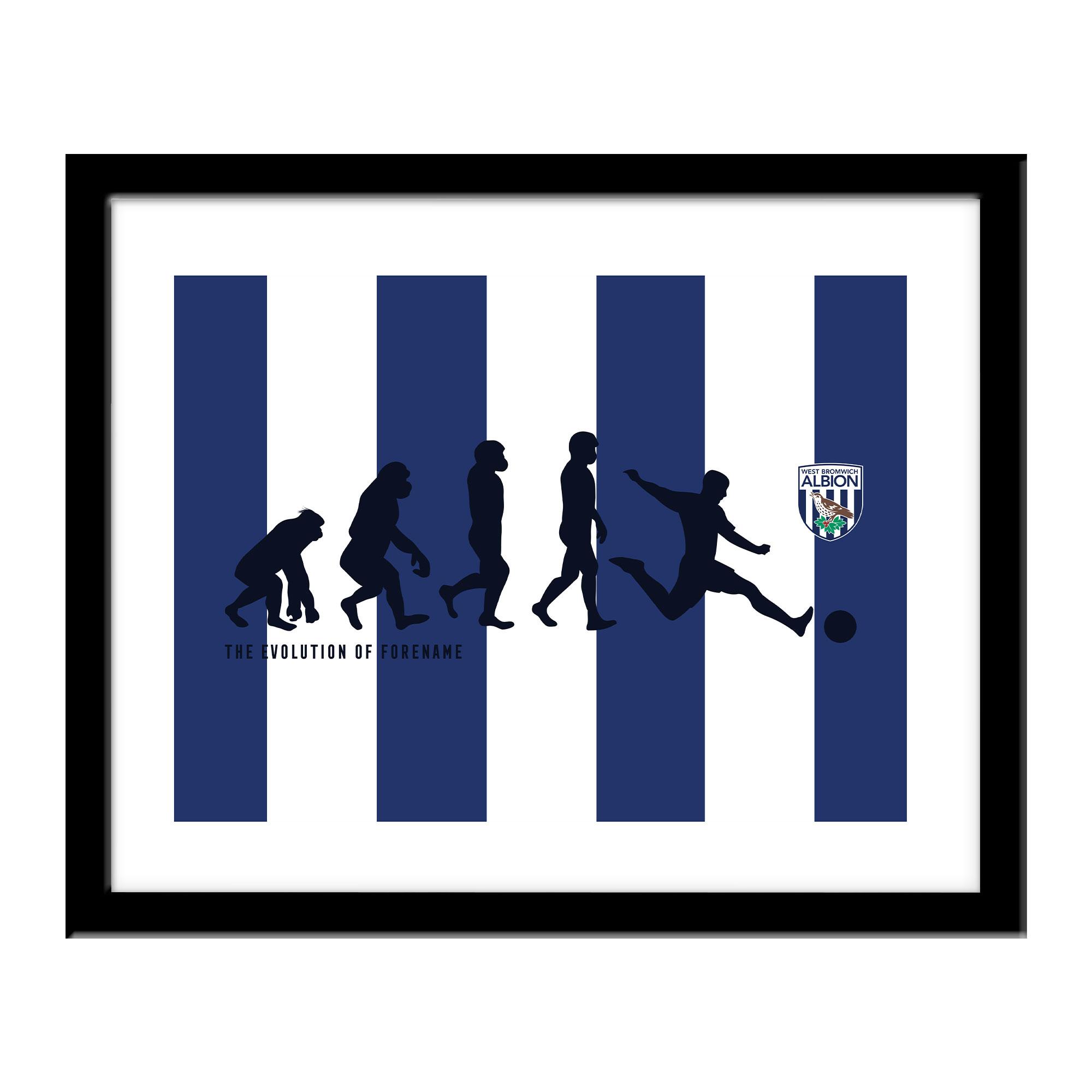 West Bromwich Albion FC Evolution Print