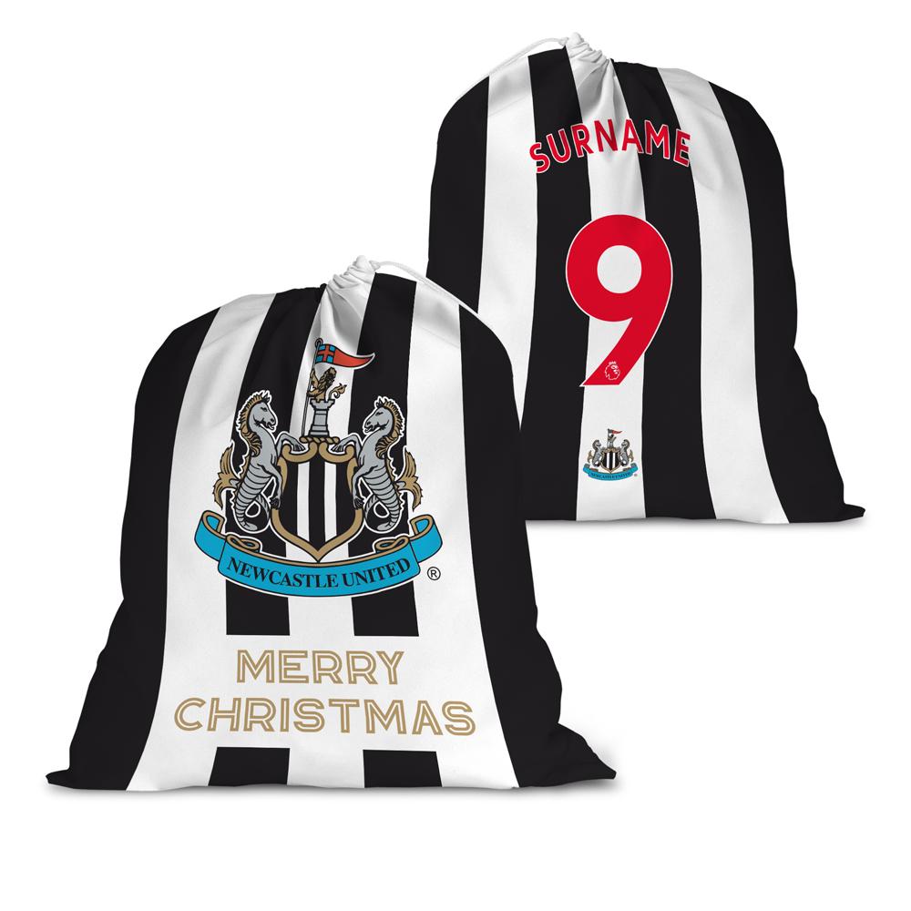 Newcastle United FC Back of Shirt Santa Sack