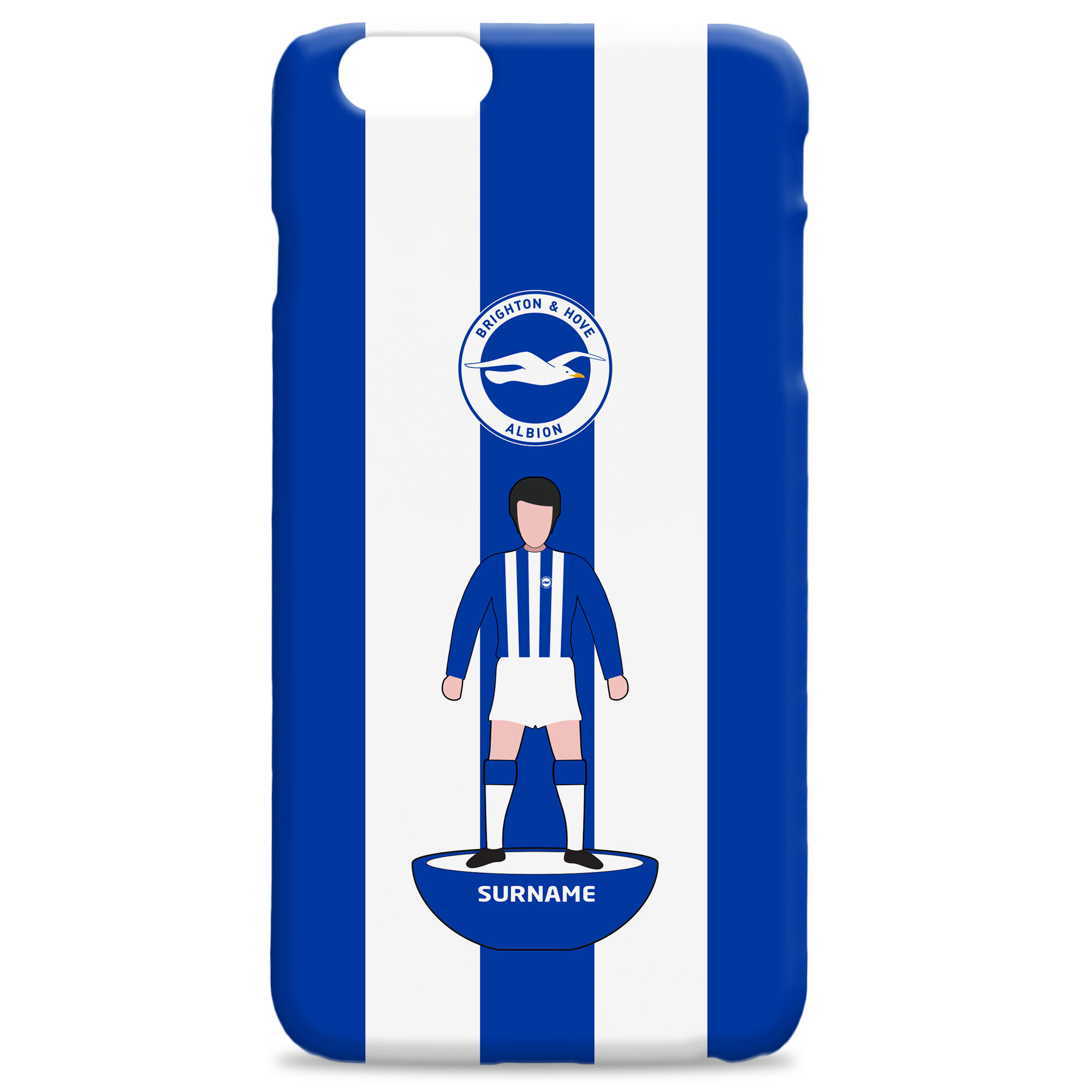 Brighton & Hove Albion FC Player Figure Hard Back Phone Case