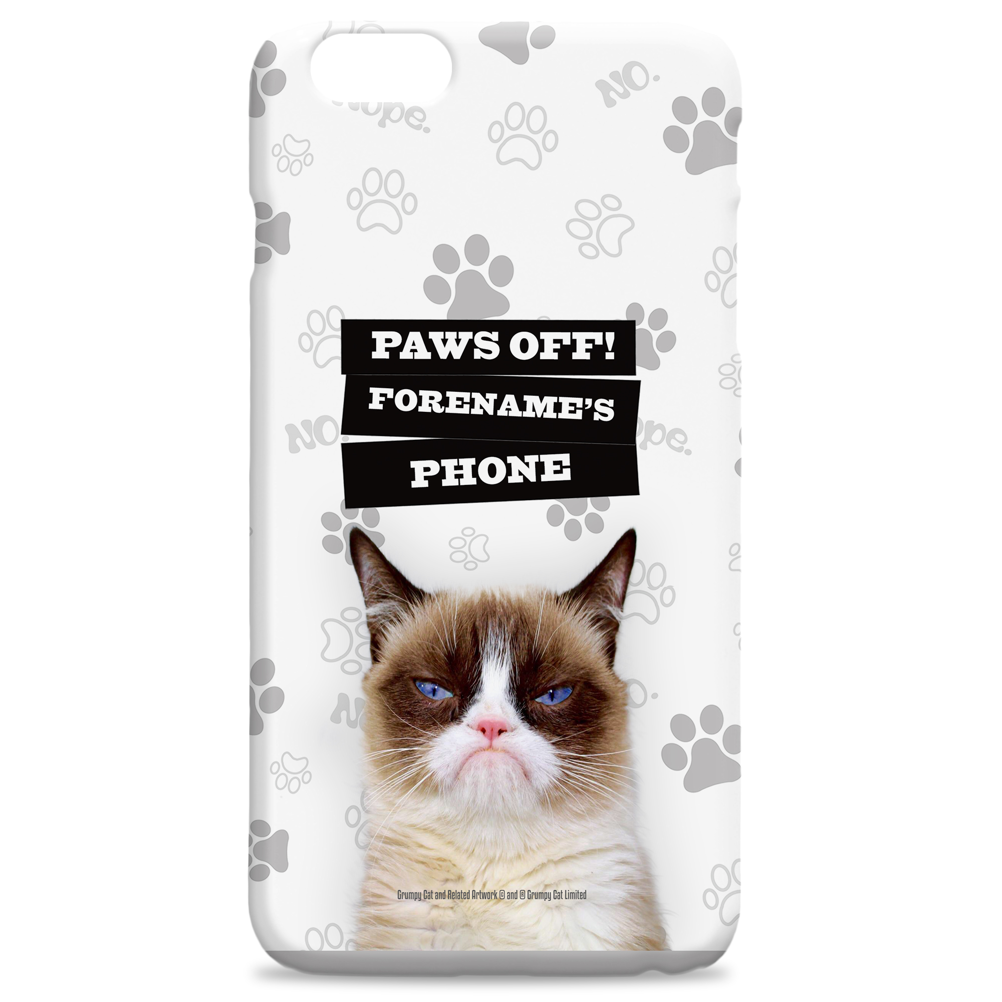 Grumpy Cat - Paws Off Grey Case