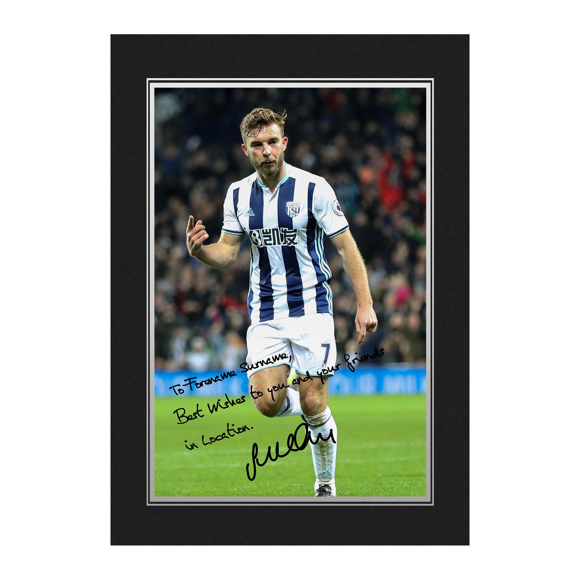 West Bromwich Albion FC Morrison Autograph Photo Folder