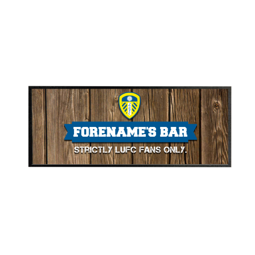 Leeds United FC Wood Name Regular Bar Runner