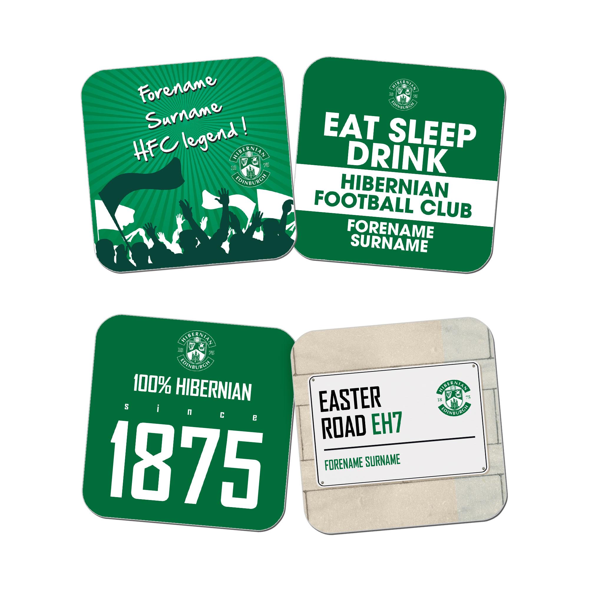 Hibernian FC Coasters