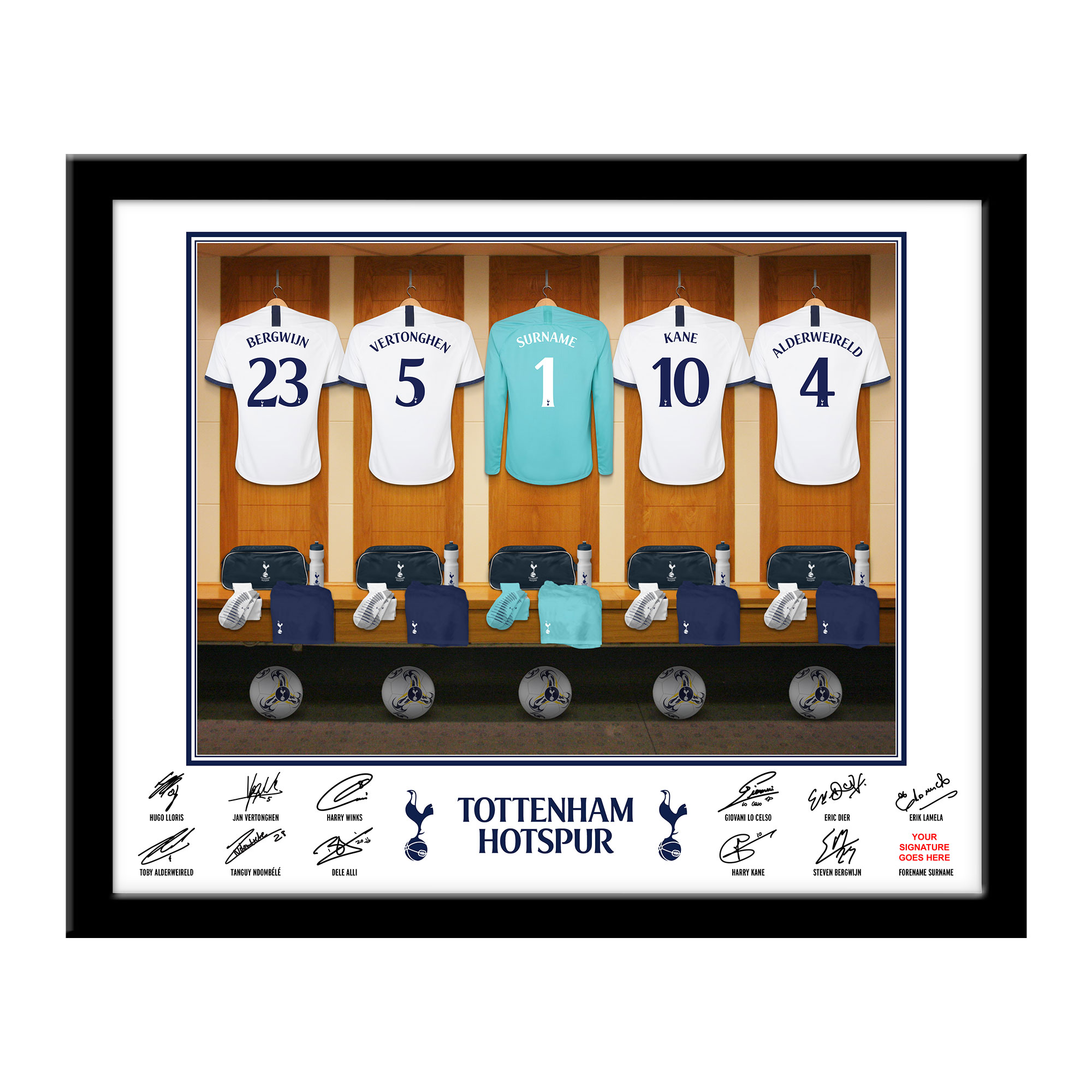 THFC Goalkeeper Dressing Room Framed Print