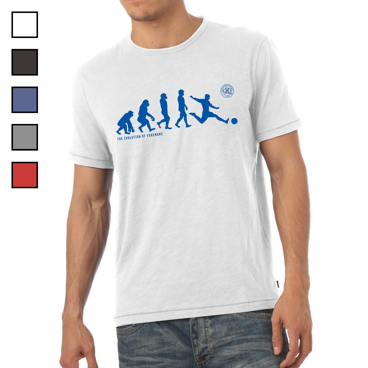 Queens Park Rangers FC Evolution Mens T-Shirt