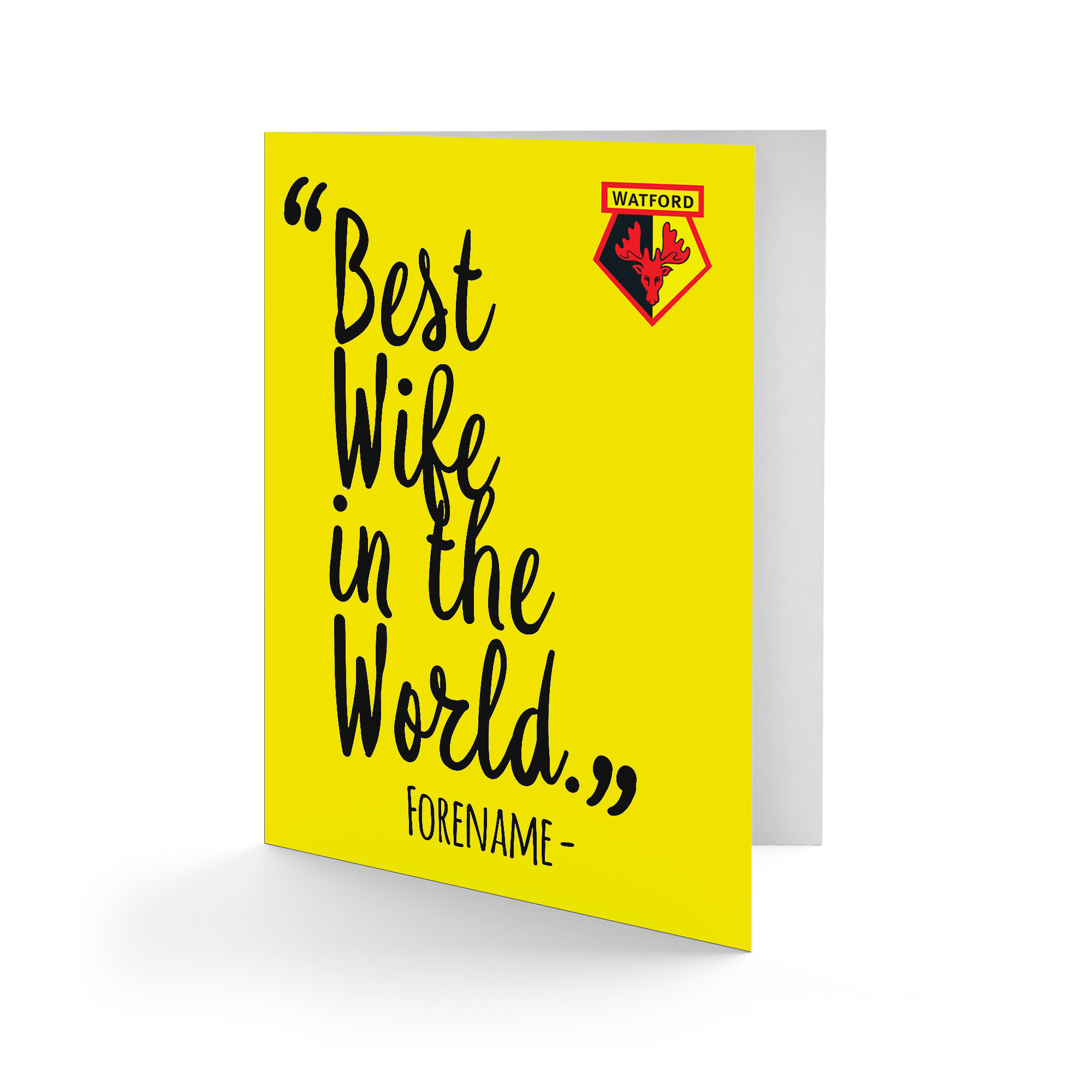 Watford FC Best Wife In The World Card