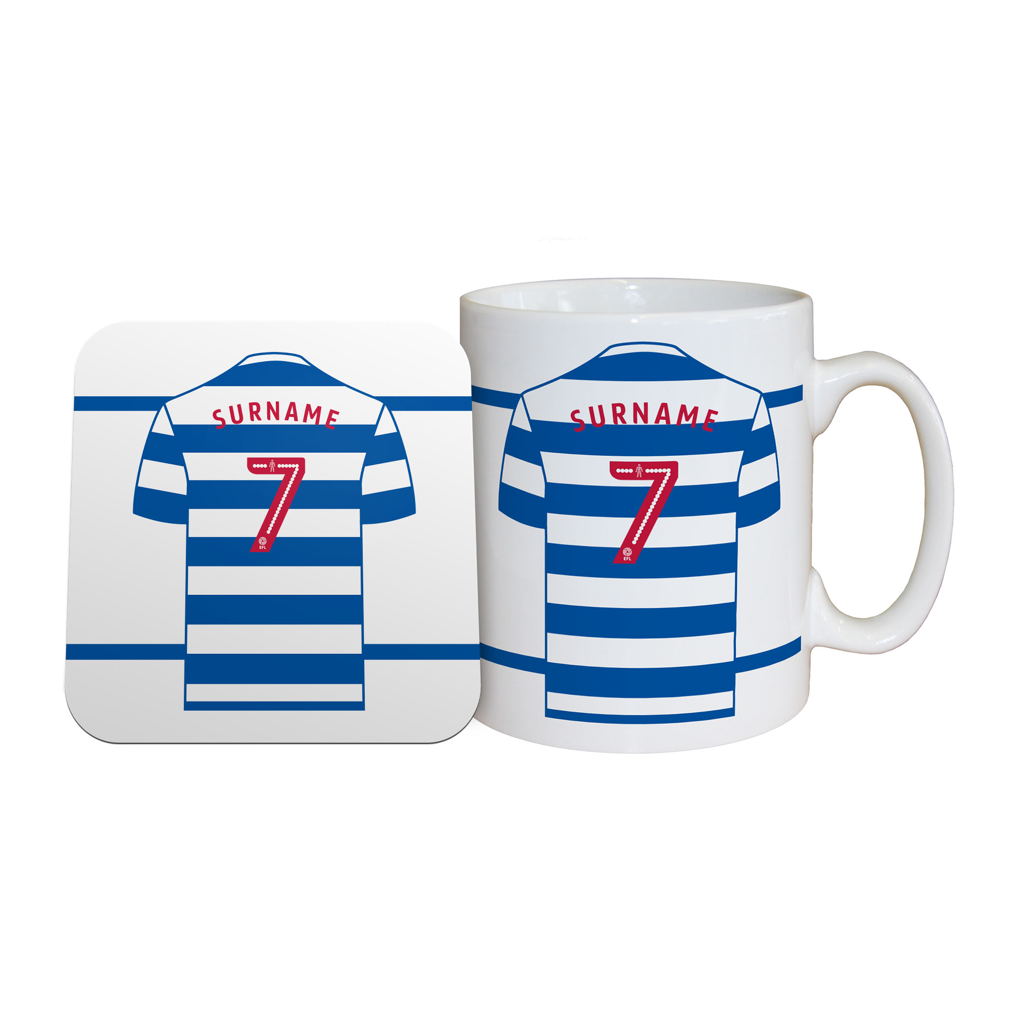 Queens Park Rangers FC Shirt Mug & Coaster Set