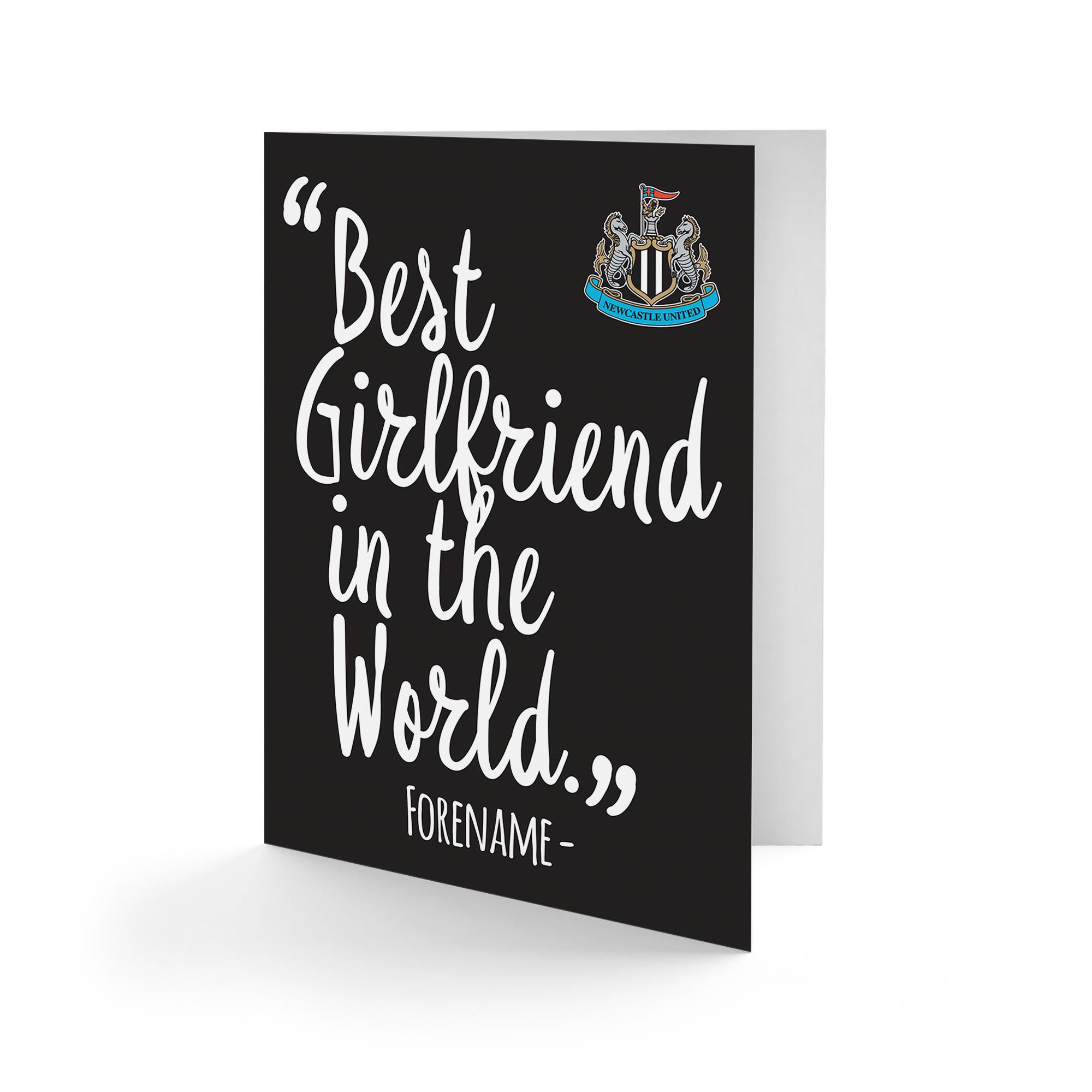 Newcastle United FC Best Girfriend In The World Card