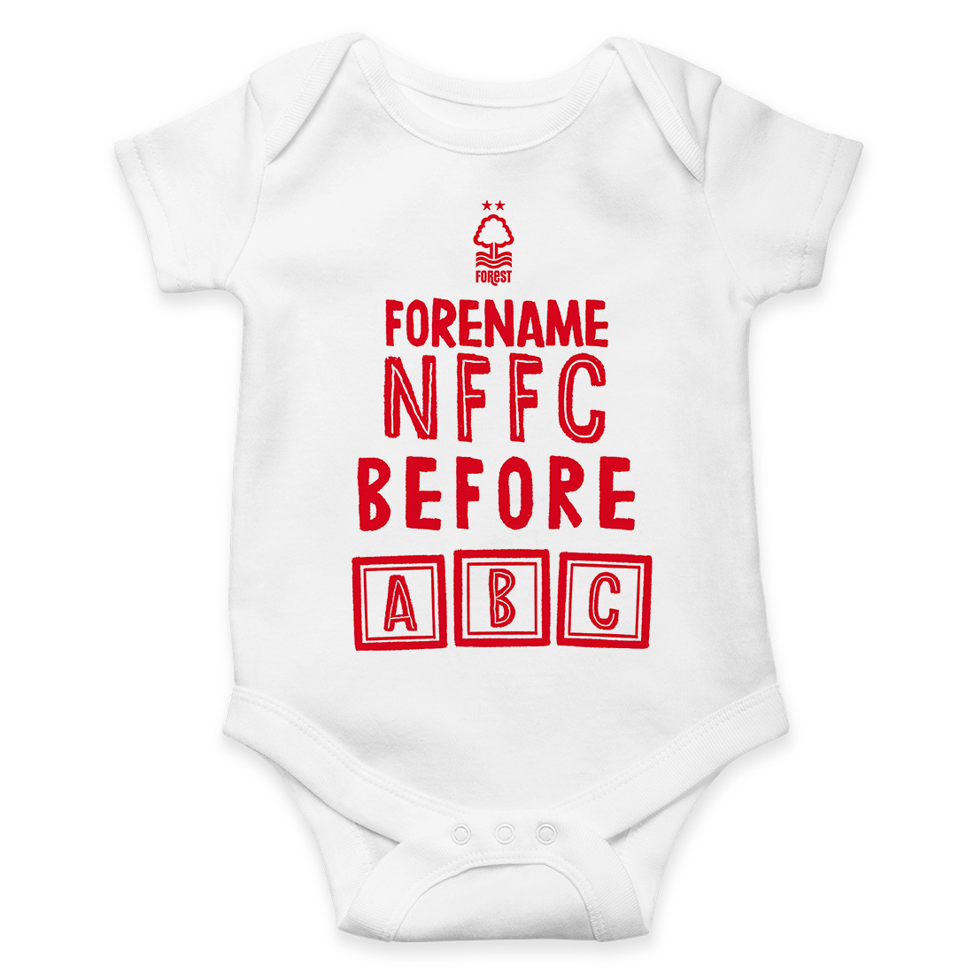 Personalised Bodysuit FUTURE STAR Nottingham Forest F.C