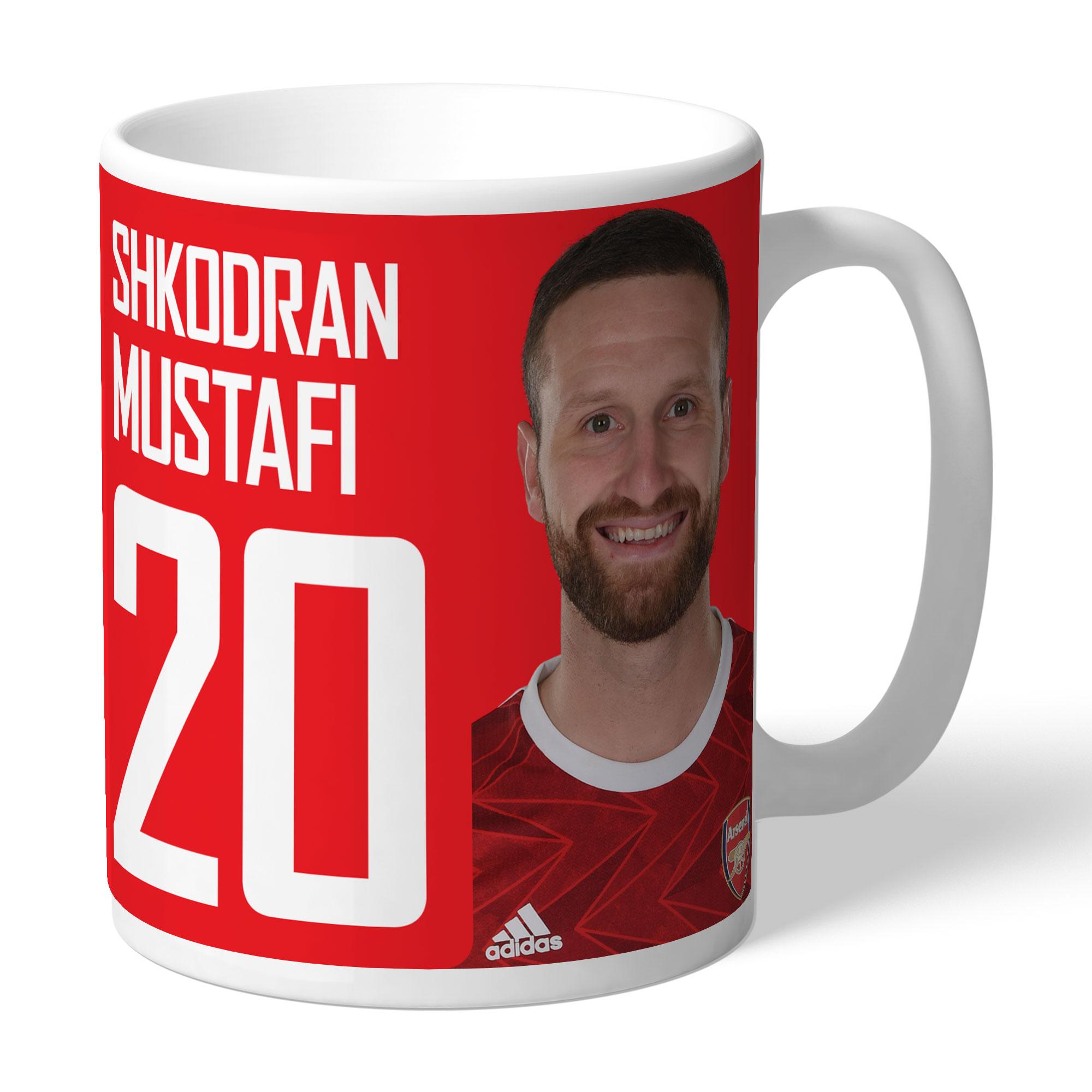 Arsenal FC Mustafi Autograph Mug