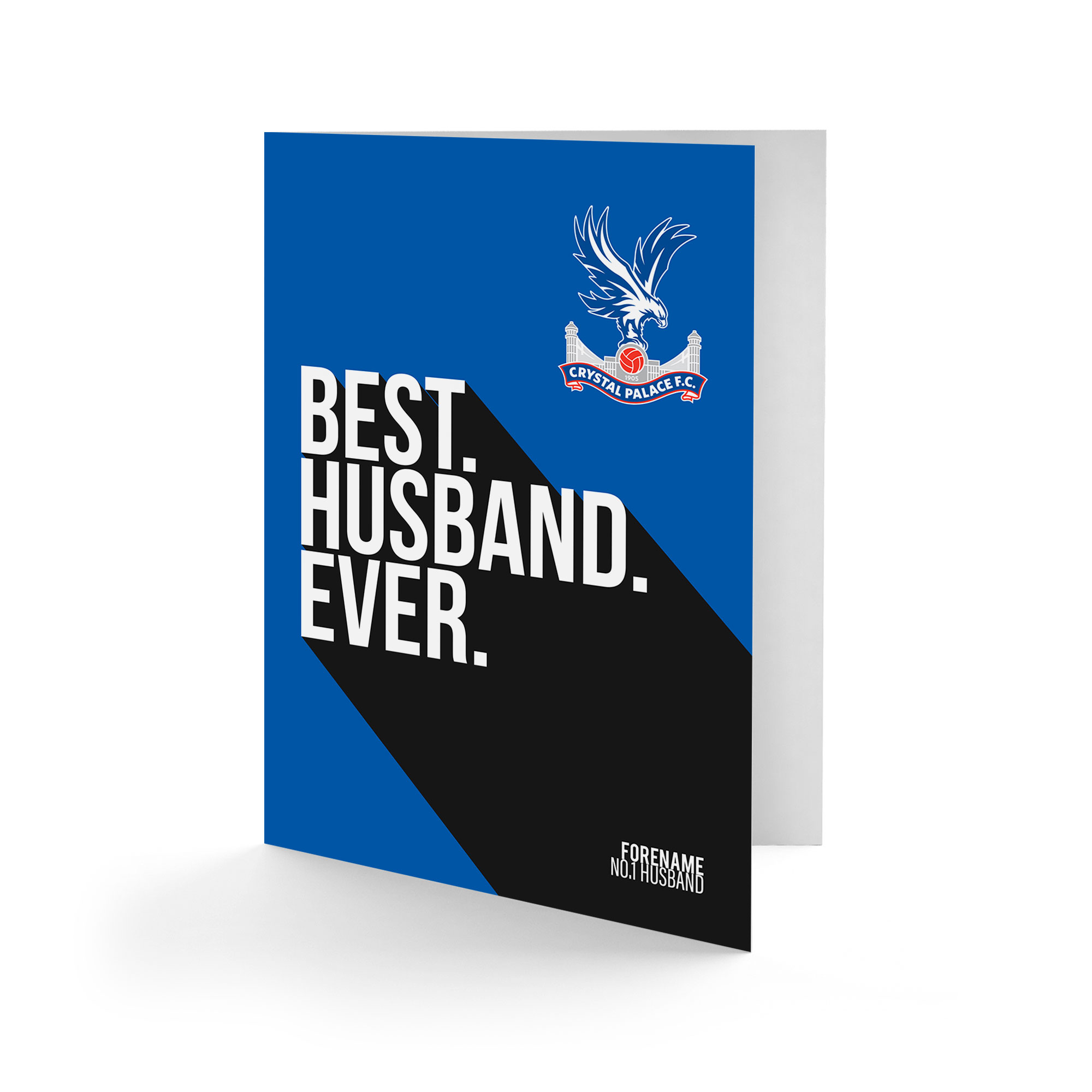 Crystal Palace FC Best Husband Ever Card