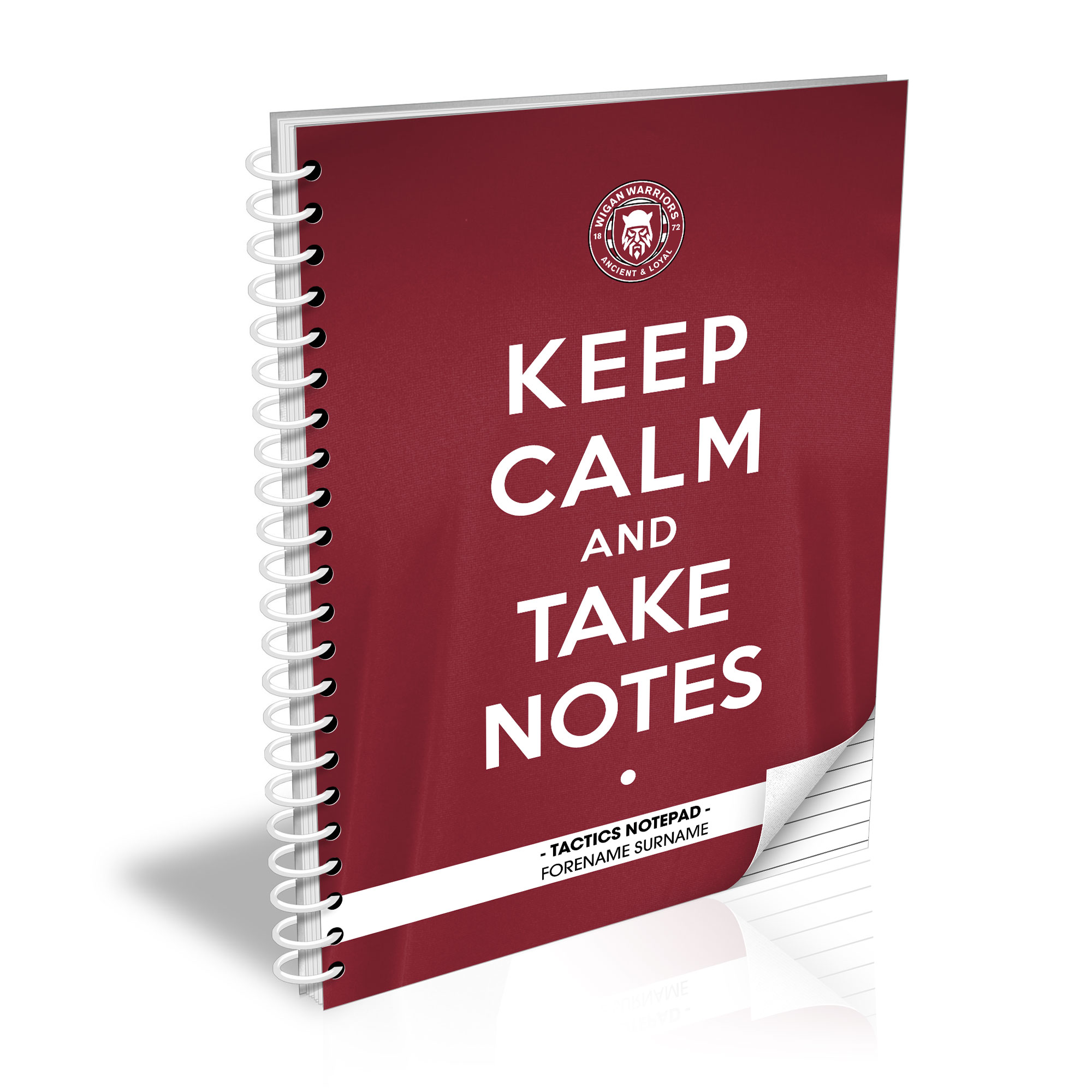 Wigan Warriors Keep Calm Notebook
