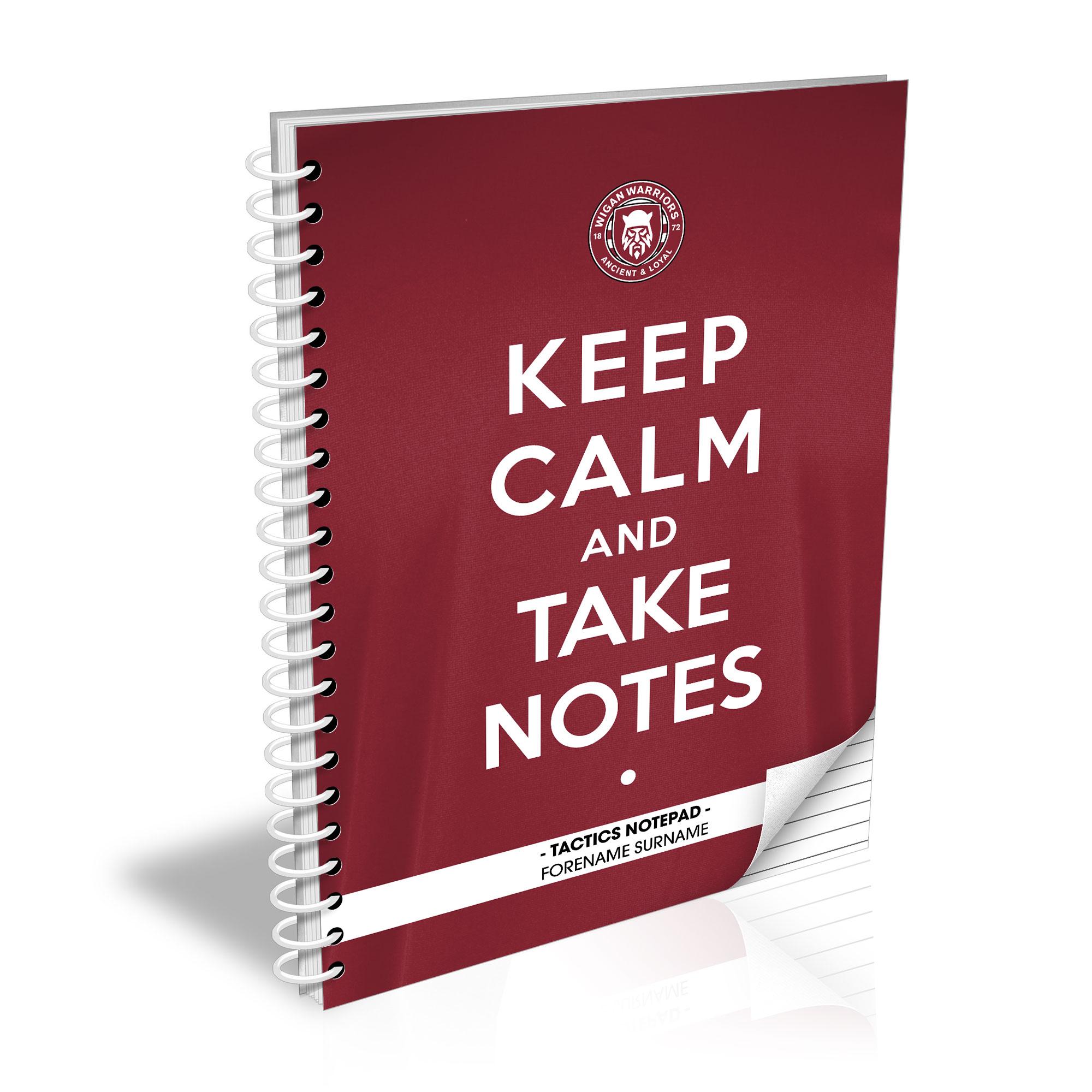 Wigan Warriors Keep Calm Notebook
