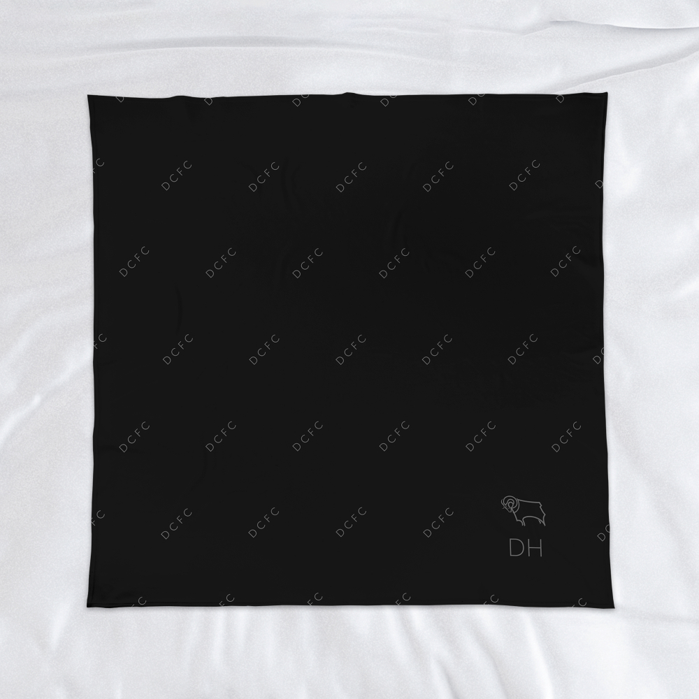 Derby County Pattern Fleece Blanket