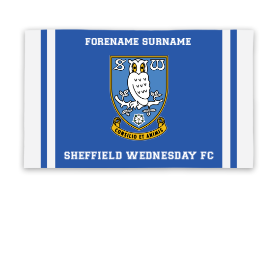 Sheffield Wednesday FC Crest 5ft x 3ft Banner