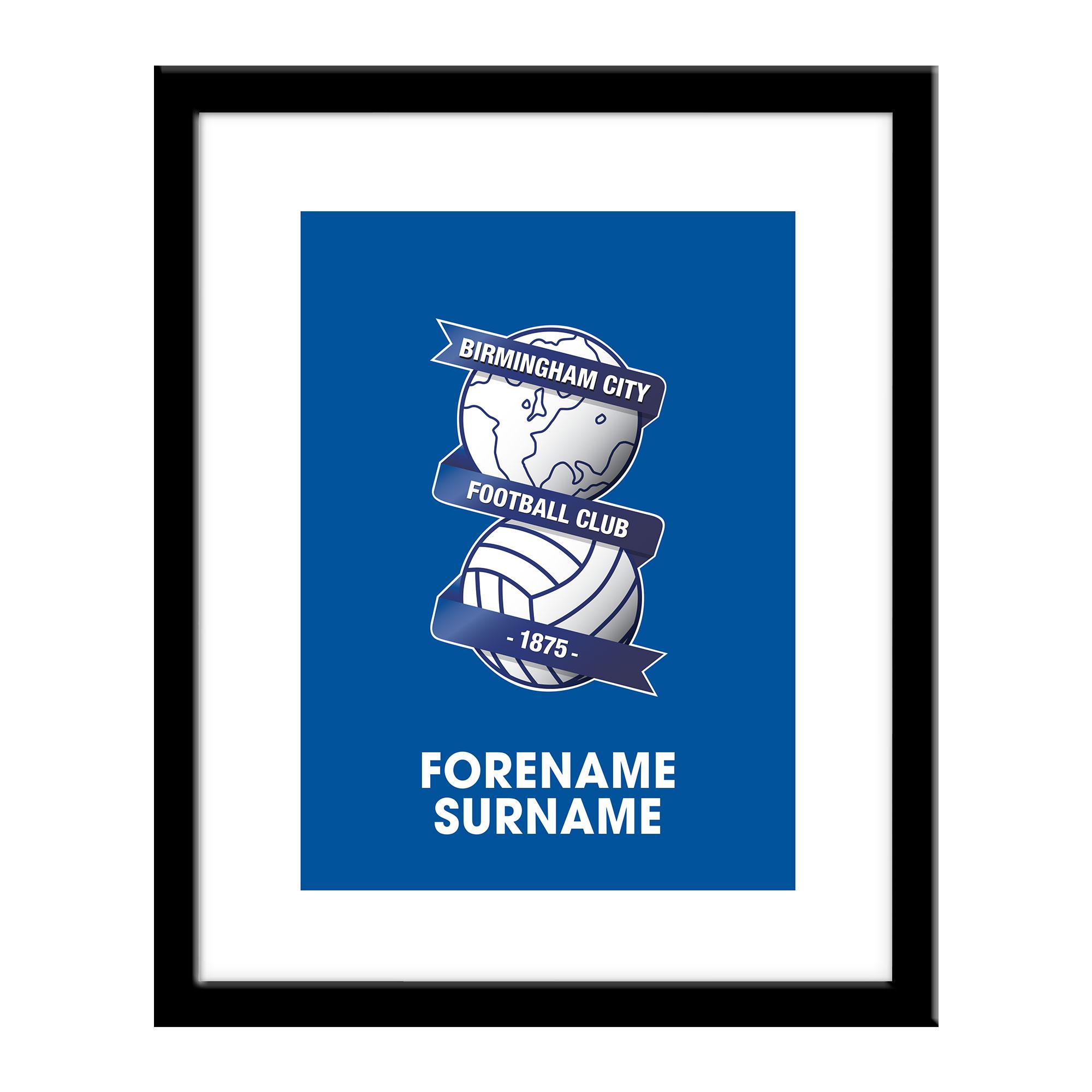 Birmingham City Bold Crest Print